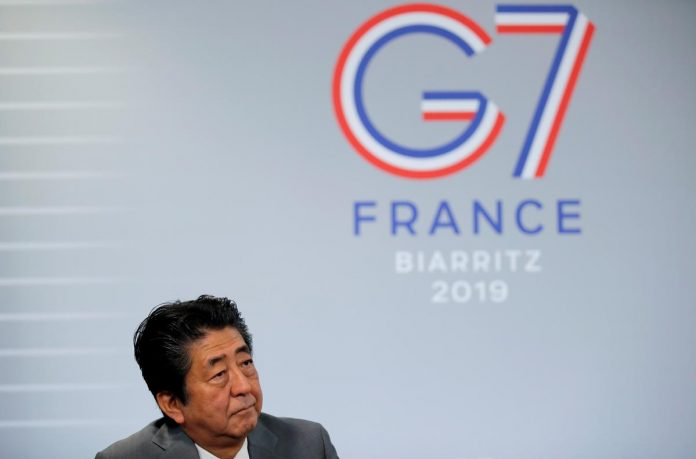 Japan PM Abe: G7 must unify in its response to downside economic risks - Kyodo