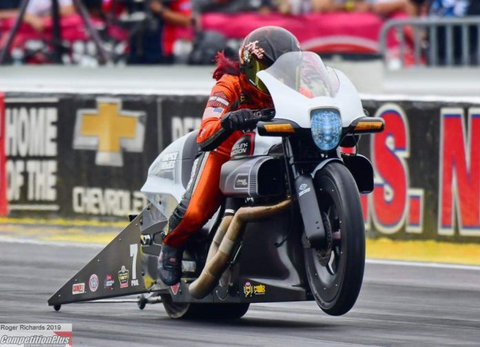 ANGELLE SAMPEY ROCKETS TO NO. 1 IN QUALIFYING