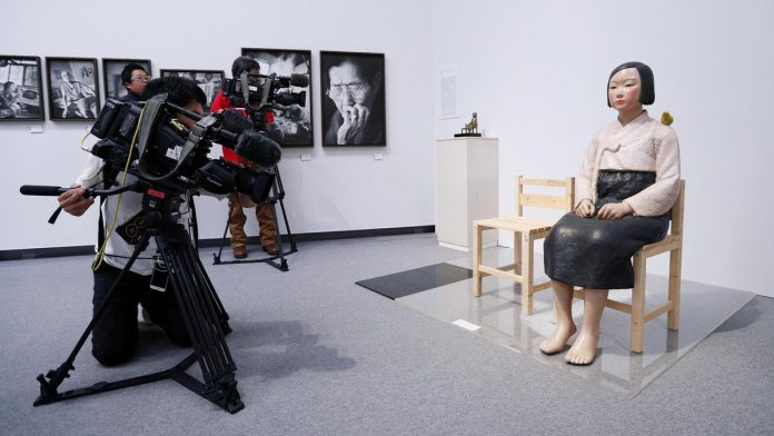 Japan exhibition defends pulling 'comfort woman' statue, opponents decry censorship