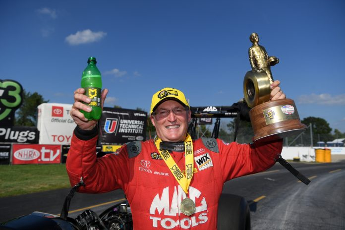 KALITTA POSITIONS HIMSELF FOR PLAYOFFS WITH LONG-AWAITED TOP FUEL INDY VICTORY