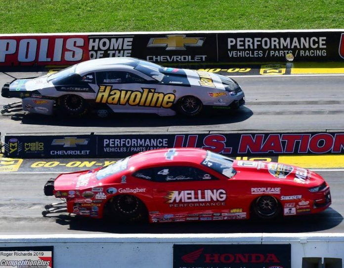LAUGHLIN SNARES PRESTIGIOUS INDY PRO STOCK TITLE