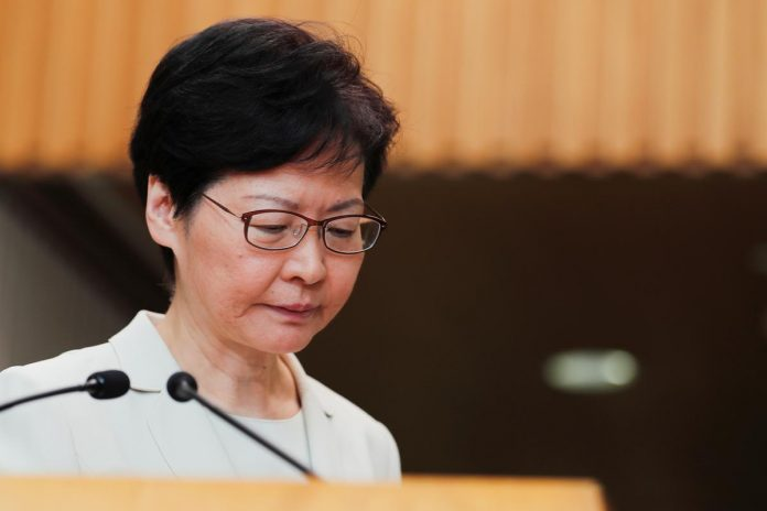 Hong Kong leader says China 'respects and supports' withdrawal of extradition bill