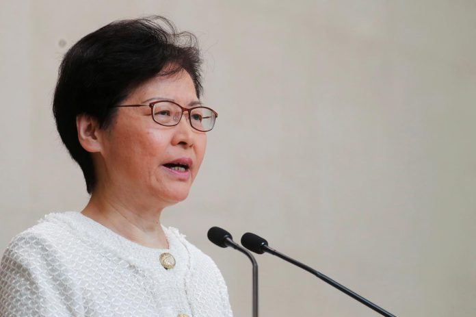 Hong Kong leader says escalation of violence will not solve social issues