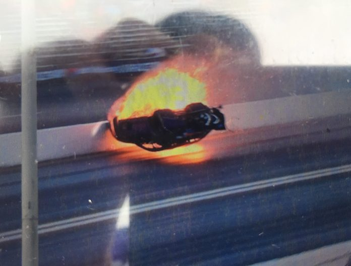 PRO MOD RACER RICK HORD INVOLVED IN FIERY CRASH