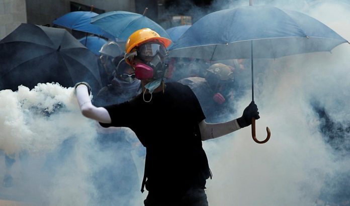 Hong Kong police fire rubber bullets, tear gas as clashes intensify