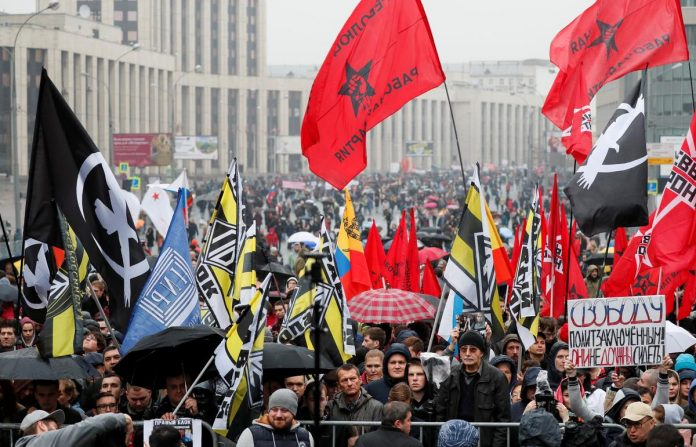 Thousands rally in Moscow to demand release of jailed protesters