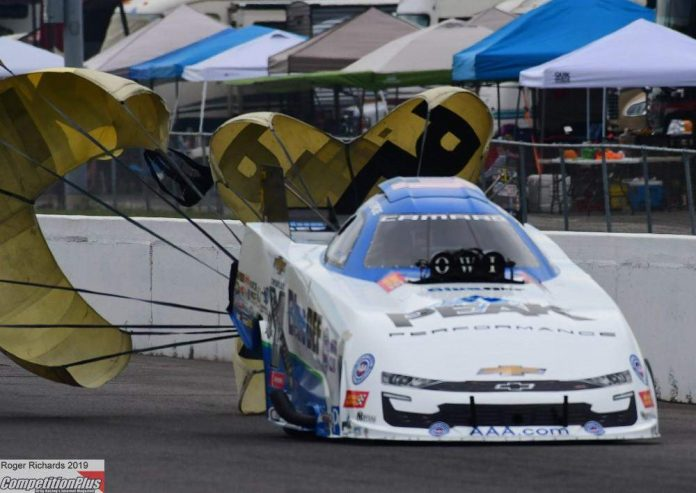 FORCE, CORRADI DANCE TO NO. 1 FUNNY CAR POSITION, READY TO TAKE GRAND BOW