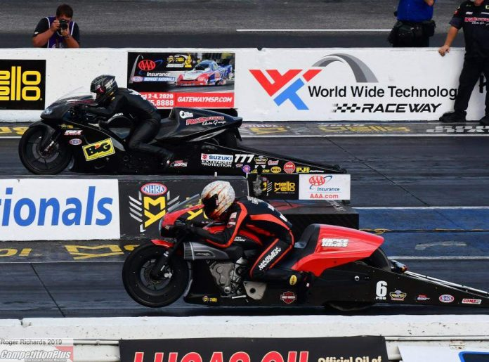 STOFFER STRIKES ANOTHER BLOW FOR SUZUKI IN HISTORIC PRO STOCK BIKE VICTORY