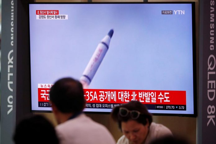 North Korea fires ballistic missile, possibly from submarine, days before talks