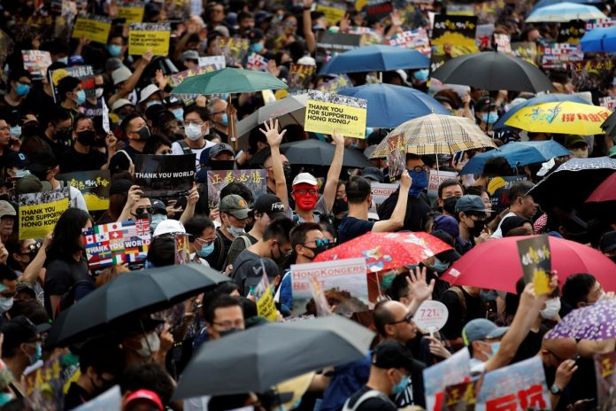 Hong Kong tightens security ahead of planned protest