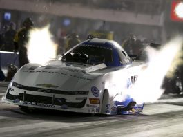 JOHN FORCE LEADS FUNNY CAR FIELD AFTER FIRST DAY OF QUALIFYING AT DALLAS