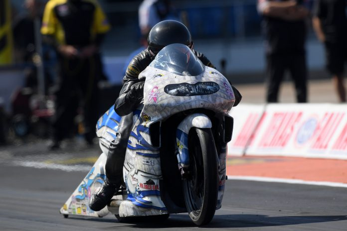 PRO STOCK MOTORCYCLE WINNER SAVOIE: THIS ONE'S FOR YOU, NEIL ARABIE!
