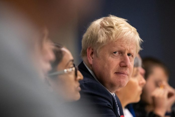 In election pitch, UK PM Johnson backs his deal over no-deal Brexit