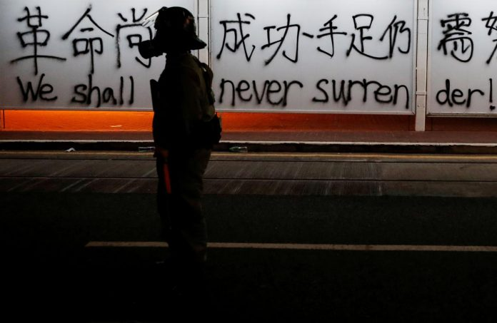 Clean-up operation underway as Hong Kong reels from worst violence in weeks