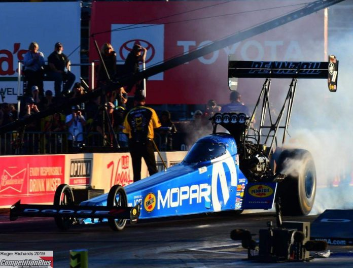 LEAH PRITCHETT CHARGES TO TOP FUEL QUALIFYING LEAD AT LAS VEGAS
