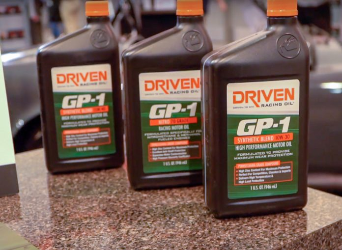 Driven Racing Oil Introduces GP-1 Synthetic Engine Oil