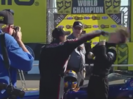 TEMPERS FLARE IN FIRST ROUND AT POMONA