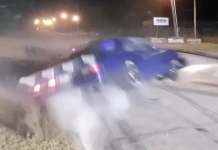 Wild Top End Crash At H-Town Throw Down Street Race
