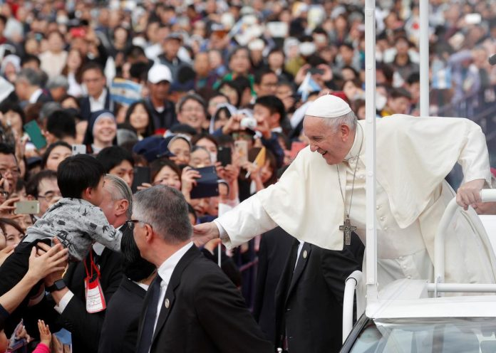 Pope urges abolition of nuclear weapons at Japan's ground zeros