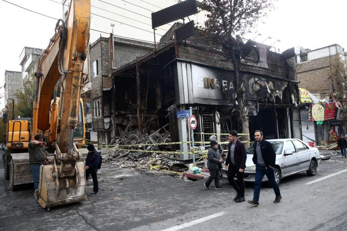 Iran says hundreds of banks were torched in 'vast' unrest plot