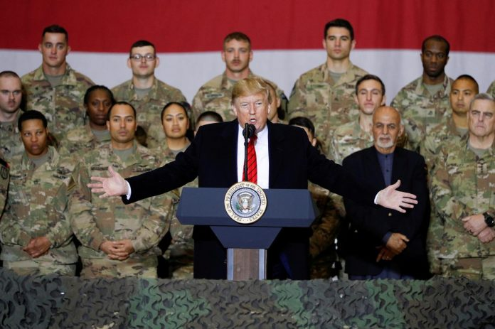 Trump makes surprise Afghanistan trip, voices hope for ceasefire
