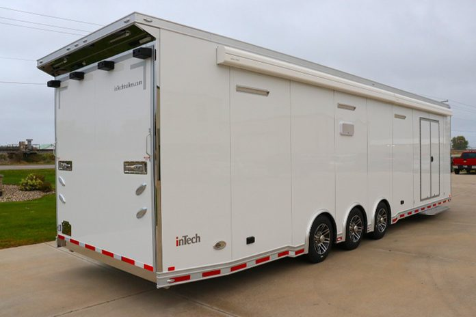 The Loaded Flying A 34′ InTech Race Trailer