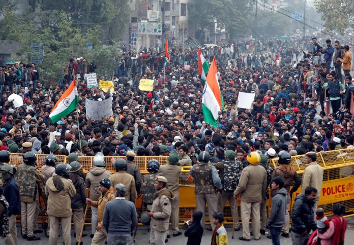 Clashes erupt in Indian capital over citizenship law