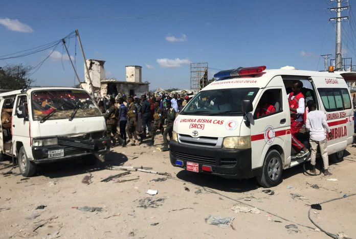At least 61 people killed in Mogadishu checkpoint blast: ambulance official