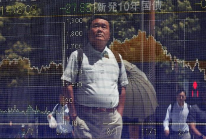 Asian shares firm as China data show signs of easing economic strains