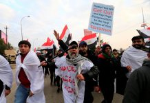 'No, No America': Iraq protesters demand expulsion of U.S. troops