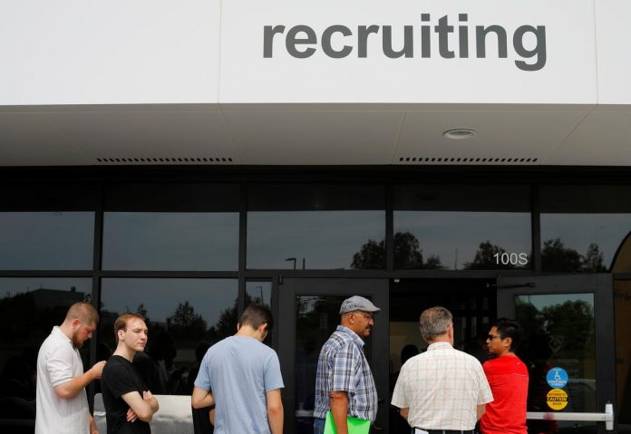 Mild weather boosts U.S. job growth; jobless rate ticks up