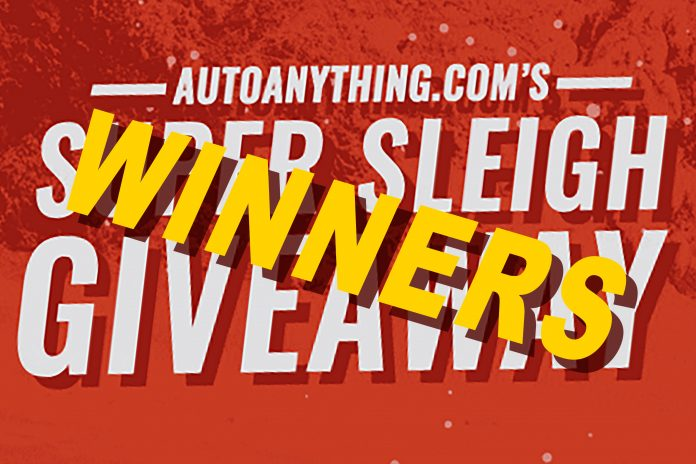 Auto Anything's Super Sleigh Giveaway Winners Are Announced