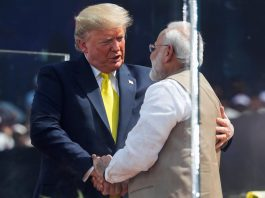'Namaste Trump': Modi holds huge rally for president's visit
