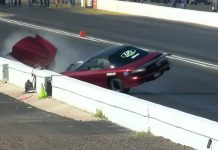 Brian Manske Smacks The Wall At The NHRA Arizona Nationals