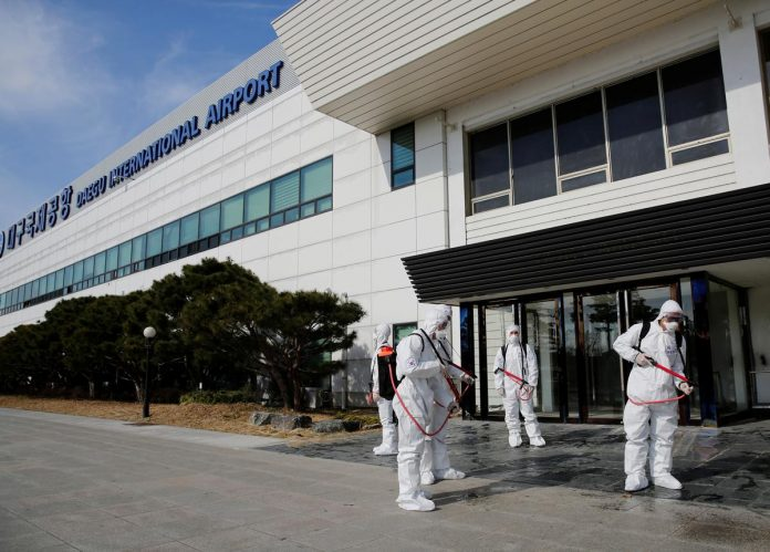 South Korea's coronavirus cases climb above 7,000, most cases traced to church