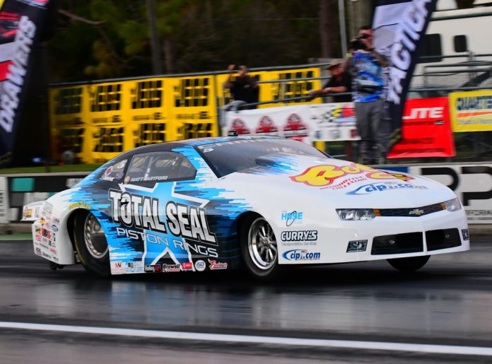 HARTFORD RUNS QUICKEST-EVER NHRA EFI PS PASS TO QUALIFY NO. 1