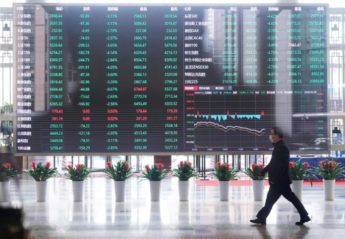 Asia shares try to find a floor after headlong fall