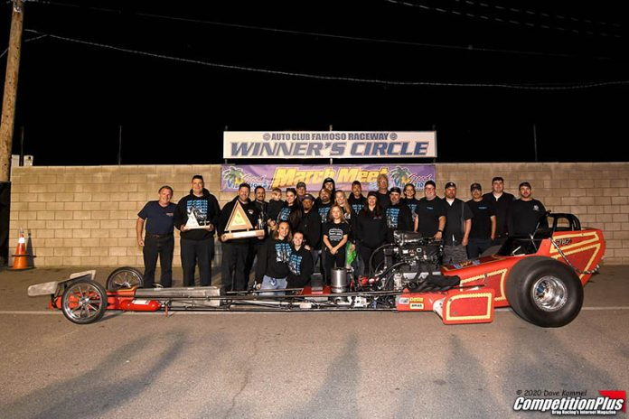 WITTENBERG CLAIMS TOP FUEL WIN AT MARCH MEET