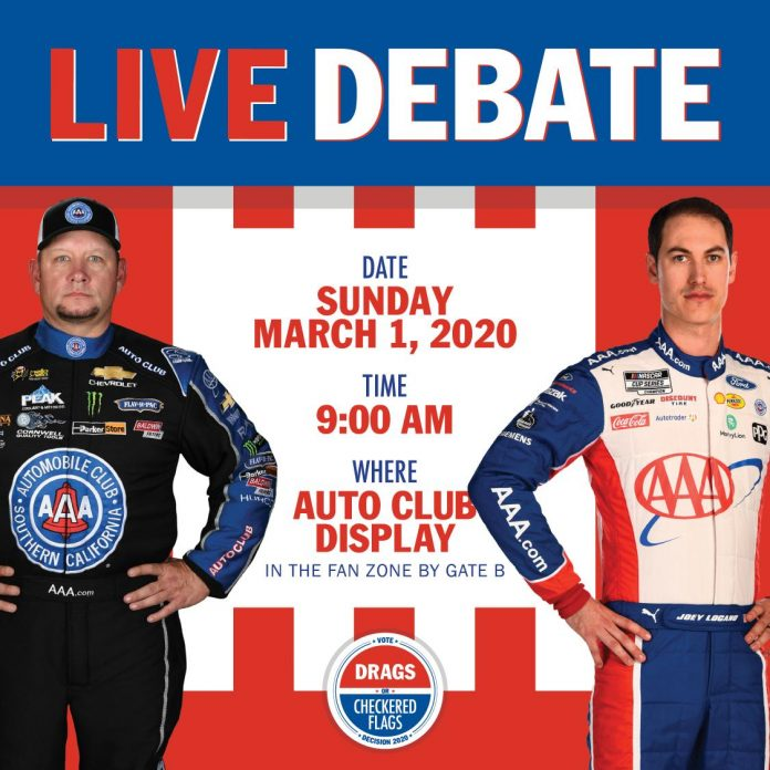 HIGHT DEBATES AAA TEAMMATE LOGANO, OF NASCAR, AGAIN IN RACING-RELATED ELECTION
