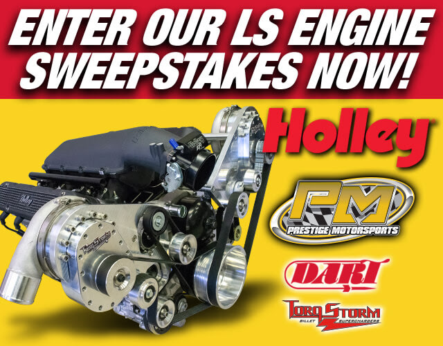 ENTER TO WIN HOLLEY'S TWIN SUPERCHARGED LS ENGINE GIVEAWAY