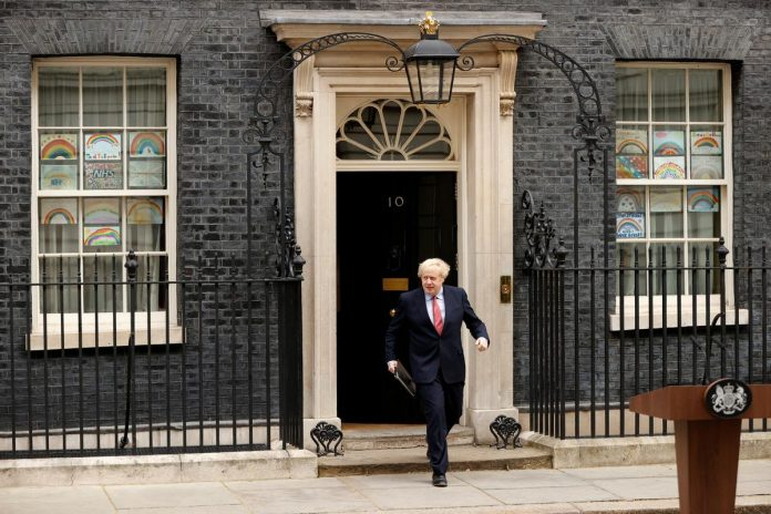 UK PM Johnson thanks Britons for abiding by lockdown on return to work