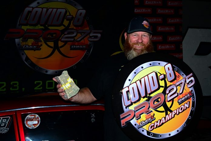 HOLDER REPEATS WITH COVID 8 PRO 275 TITLE