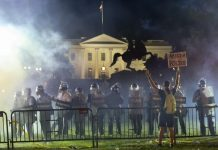 Fires burn near White House in violent U.S. protests