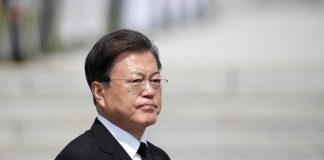 South Korea's Moon urges North to keep peace deals, return to talks