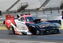 TOMMY JOHNSON PICKS UP WHERE HE LEFT OFF BEFORE SEASON SHUTDOWN, ROCKETS TO FUNNY CAR NO. 1