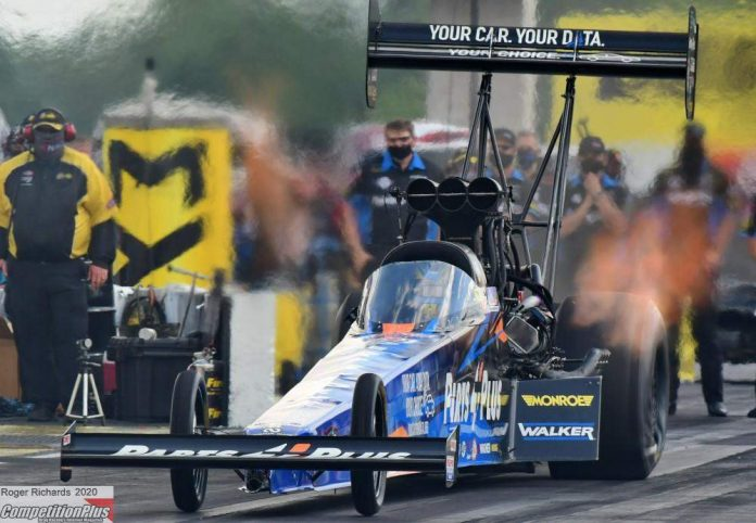 THIS TIME MILLICAN HOLDS ONTO TOP FUEL'S NO. 1 QUALIFYING SPOT AT INDIANAPOLIS