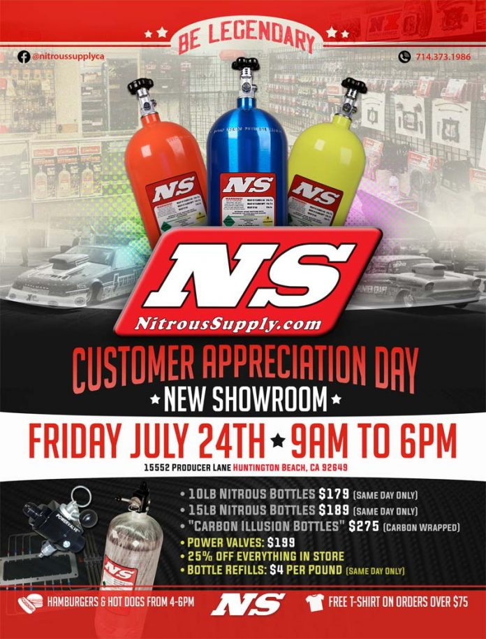 NITROUS SUPPLY HOLDING OPEN HOUSE, FRI. JULY 24