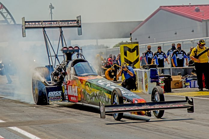 TOP FUEL'S MCMILLEN EARNS FIRST CAREER NO. 1, JOINED BY JOHNSON JR., LINE AND M. SMITH AT INDY