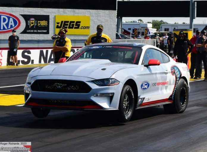 FORD'S ALL-ELECTRIC COBRA JET SILENTLY THUNDERS WITH INDY SHAKEDOWN RUNS