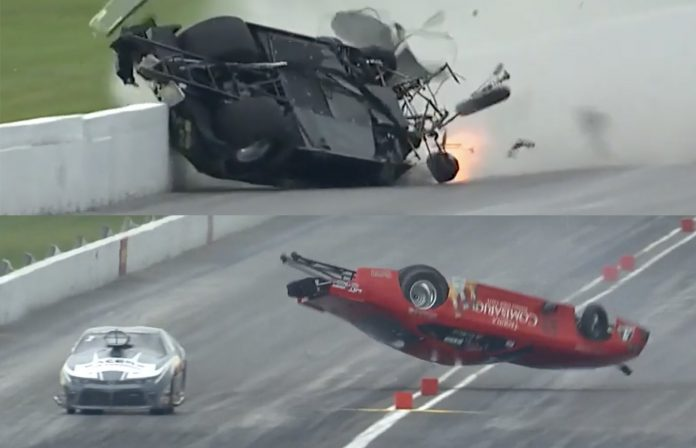 Pro Mod Racers Unhurt In Separate U.S. Nationals Crashes